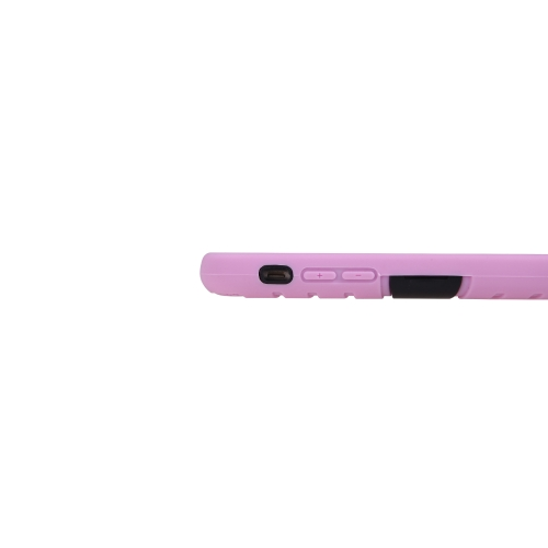 Detachable Dual Layer Silicone & PC Back Case Protective Shell Cover with Stand for iPhone 6 Pink