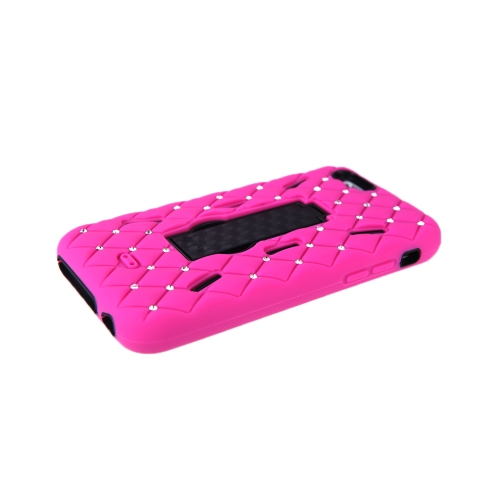 Detachable Dual Layer Silicone &amp; PC Back Case Protective Shell Cover with Stand  Bling Crystal Decoration for iPhone 6 RoseCellphone &amp; Accessories<br>Detachable Dual Layer Silicone &amp; PC Back Case Protective Shell Cover with Stand  Bling Crystal Decoration for iPhone 6 Rose<br>