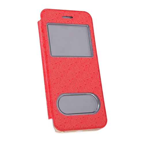 Luxury Slim Flip Leather Dual Double View Window Maze Grain Case Hard Back Cover Protective Shell for Apple iPhone 6 4.7 RedCellphone &amp; Accessories<br>Luxury Slim Flip Leather Dual Double View Window Maze Grain Case Hard Back Cover Protective Shell for Apple iPhone 6 4.7 Red<br>