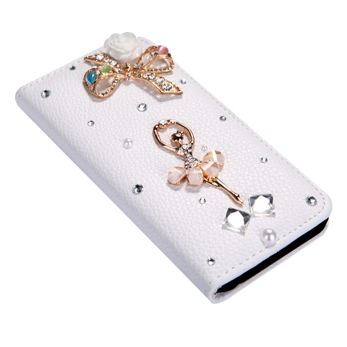 Fashion Flip PU Leather Bling Flower Wallet Protective Case Cover with Card Holder for iPhone 6 PlusCellphone &amp; Accessories<br>Fashion Flip PU Leather Bling Flower Wallet Protective Case Cover with Card Holder for iPhone 6 Plus<br>