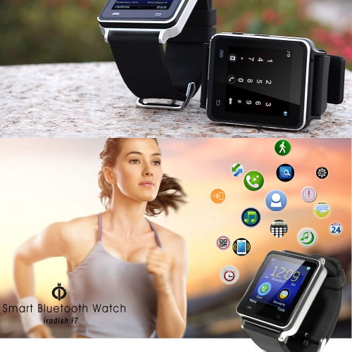 iRadish i7 BT Smart Watch Phone Sync Call con anti-lost allarme funzione Touch Screen 240 * 240 Pixel / / musica/fotocamera/orologio/contapassi Radio