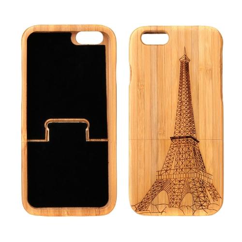 軽量竹製でファッション エコロジー柄保護ケースバックカバーfor iPhone 6 4.7
