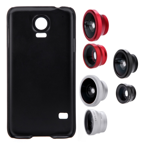 3-in-1 Phone Photo Lens 180° Fisheye 0.67X Wide Angle 10X Macro Set with Case for Samsung Galaxy S5Cellphone &amp; Accessories<br>3-in-1 Phone Photo Lens 180° Fisheye 0.67X Wide Angle 10X Macro Set with Case for Samsung Galaxy S5<br>