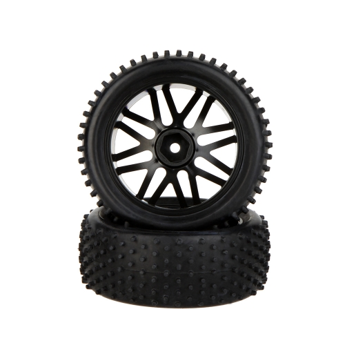 2Pcs High Performance 1/10 Off-Road Car Rear Wheel Rim and Tire 66041 for Traxxas HSP Tamiya RC CarToys &amp; Hobbies<br>2Pcs High Performance 1/10 Off-Road Car Rear Wheel Rim and Tire 66041 for Traxxas HSP Tamiya RC Car<br>