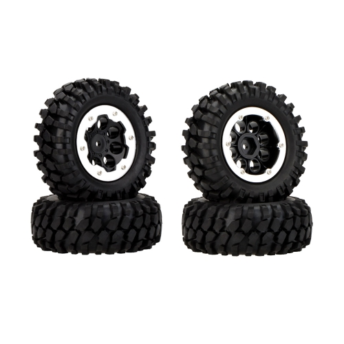 4Pcs 1/10 Climber Off-road Car Wheel Rim and Tire 260001 with Aluminum CNC Metal Protective Sheet for Traxxas HSP Tamiya HPI KyoshToys &amp; Hobbies<br>4Pcs 1/10 Climber Off-road Car Wheel Rim and Tire 260001 with Aluminum CNC Metal Protective Sheet for Traxxas HSP Tamiya HPI Kyosh<br>