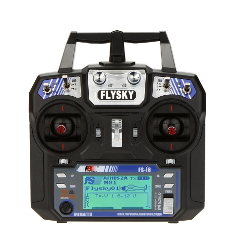Flysky FS-i6 AFHDS 2A Trasmettitore di sistema radio a 2,4 GHz 6CH per RC Helicopter Glider con modalità Receiver FS-iA6 2