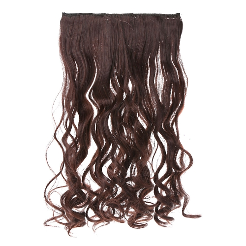 5Clips Clip in on Wavy Curl Hairpieces Slice Hair Extension Ponytail