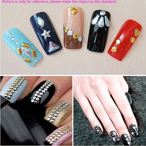 3D Nail Art Decoration Color Coated Round Shape Slice Metal StudsHealth &amp; Beauty<br>3D Nail Art Decoration Color Coated Round Shape Slice Metal Studs<br>