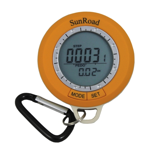 Sunroad SR108S Mini LCD Backlight Digital Pedometer Altimeter Compass Thermometer Weather Forecast Time Date Outdoor Hiking ComputSports &amp; Outdoor<br>Sunroad SR108S Mini LCD Backlight Digital Pedometer Altimeter Compass Thermometer Weather Forecast Time Date Outdoor Hiking Comput<br>