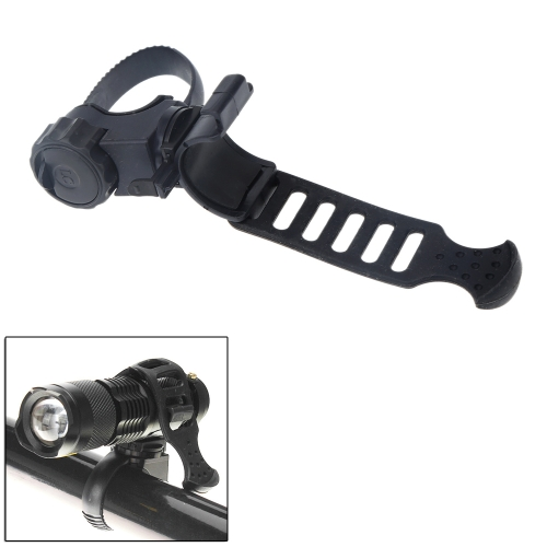 360° Rotatable Cycling Flashlight Holder Clip Bracket Plastic Rubber for Bike Bicycle Front LightSports &amp; Outdoor<br>360° Rotatable Cycling Flashlight Holder Clip Bracket Plastic Rubber for Bike Bicycle Front Light<br>