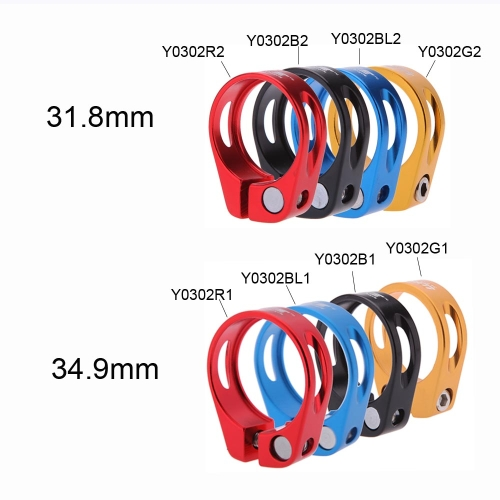 Bicycle Mountain Road MTB Bike 34.9mm Quick Release Seat Post Clamp Tube Clip Aluminium AlloySports &amp; Outdoor<br>Bicycle Mountain Road MTB Bike 34.9mm Quick Release Seat Post Clamp Tube Clip Aluminium Alloy<br>