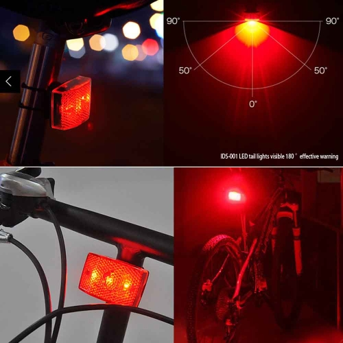 Cycling Mountain Bike Bicycle Super Bright Red 3 LED Rear Tail Light Lamp for SeatpostSports &amp; Outdoor<br>Cycling Mountain Bike Bicycle Super Bright Red 3 LED Rear Tail Light Lamp for Seatpost<br>