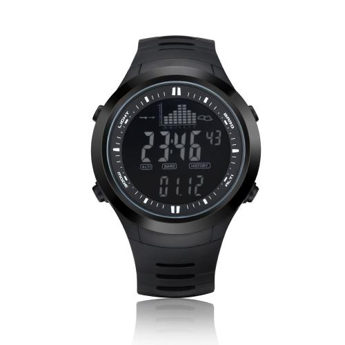 Spovan 3ATM Montre Multifonction Etanche Baromètre Altimètre Thermomètre Prévisions Chronomètre Montre numérique Sports de Plein Air