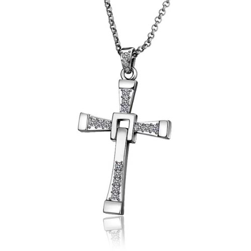 Trendy Antiallergic18K Real Gold Plated Cross Pendent Necklace for WomenApparel &amp; Jewelry<br>Trendy Antiallergic18K Real Gold Plated Cross Pendent Necklace for Women<br>