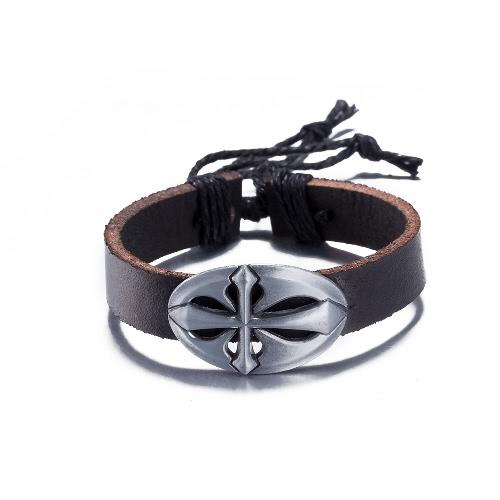 Fashion Jewelry Cute Silver Leather Wristband Unisex Infinity Charm BraceletApparel &amp; Jewelry<br>Fashion Jewelry Cute Silver Leather Wristband Unisex Infinity Charm Bracelet<br>