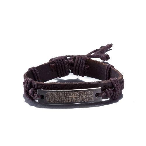 Vintage Fashion Alloy Metal Charm Strap Leather Wristband Unisex BraceletApparel &amp; Jewelry<br>Vintage Fashion Alloy Metal Charm Strap Leather Wristband Unisex Bracelet<br>