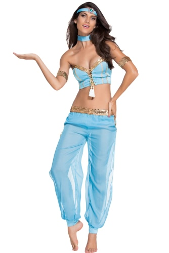 Blue Sexy Belly Dancer Womens Halloween CostumeApparel &amp; Jewelry<br>Blue Sexy Belly Dancer Womens Halloween Costume<br>