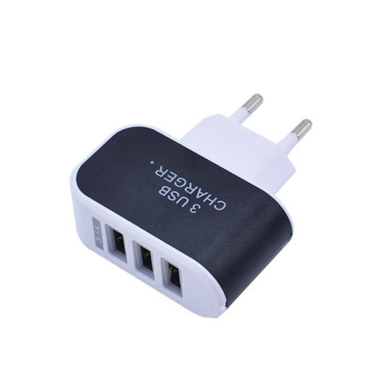 Universal 3 Ports Usb Wall Charger Sales Online Black Eu Tomtop