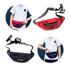 FILA Fashion Waist Bag Printing All-match for Men and Women Couple Nylon Waist Bag