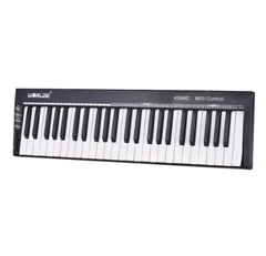 WORLDE KS49C-A 49-Key USB MIDI Keyboard Controller Built-in Sound Source with 6.35mm Pedal Jack MIDI Out
