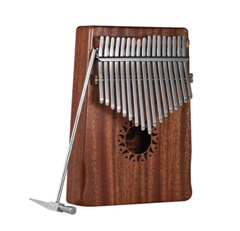 17-Key Portable Kalimba Mbira Thumb Piano Mahogany Solid Wood Musical Instrument Gift for Music Lovers Beginner Students