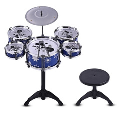 Children Kids Jazz Drum Set Kit Musical Educational Instrument Toy