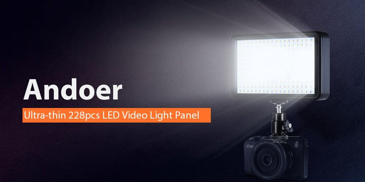 Andoer Ultra-thin 228pcs LED Video Light Panel