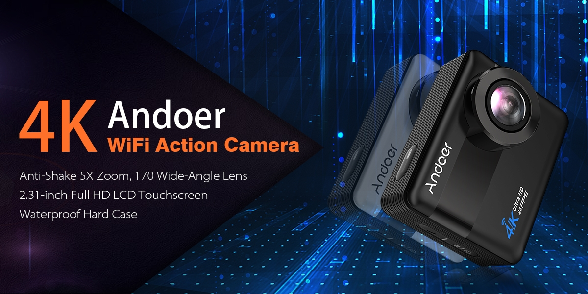 Andoer 4K WiFi Action Camera