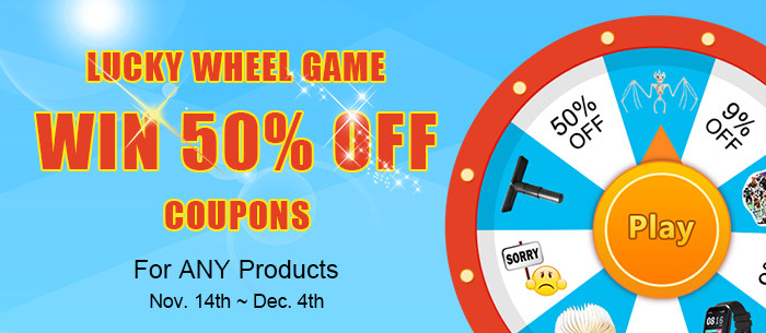 Playing Lucky Wheel Game To Win 50% Off