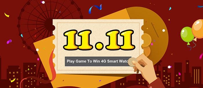 Playing 11.11 Scratching Game To Win 4G Smart Watch is in progress