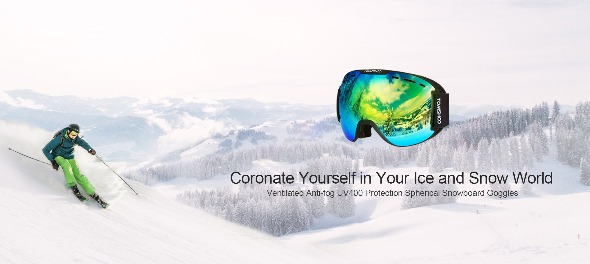 Ventilated Anti-fog Snowboard Goggles