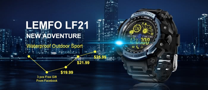 LEMFO LF21 Waterproof Sport Watch Promotional Sale