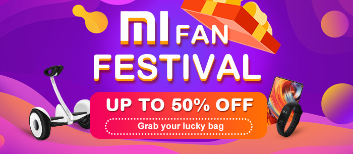 Tomtop Mi Fan Festival, Up to 50% off, Grab Your Lucky Bag
