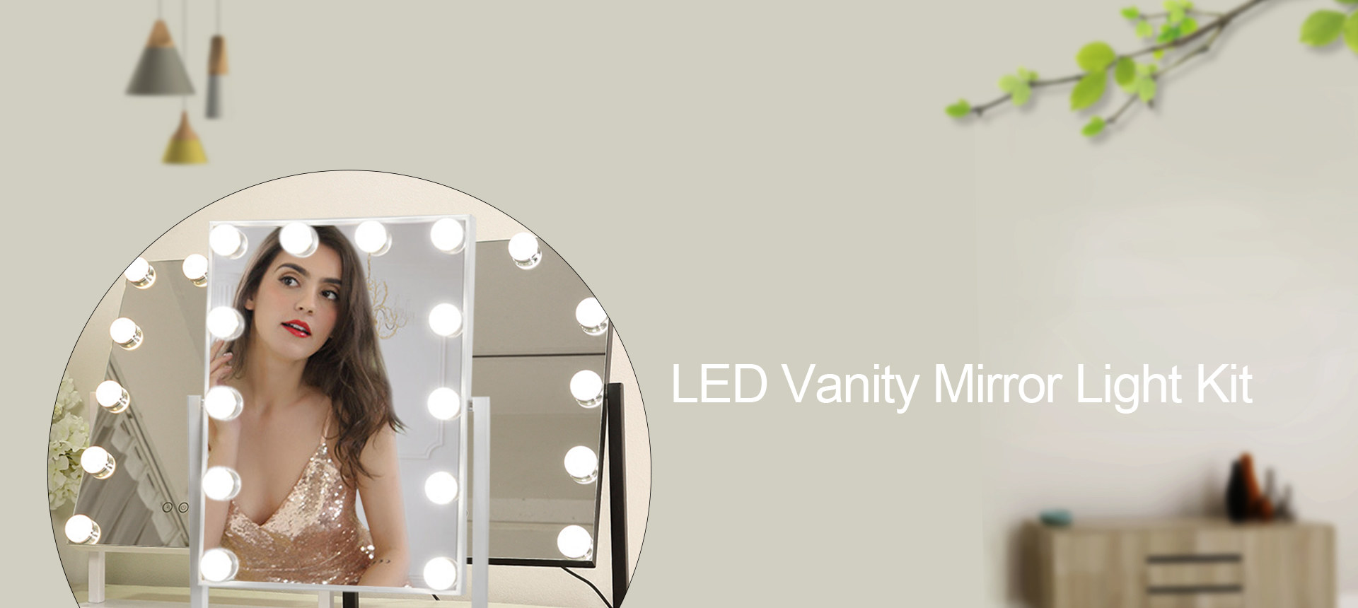 Vanity Mirror Light Banner