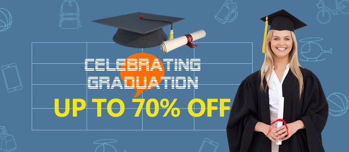 Celebrating Graduation, Big Deals for You, Up to 60% Off | Tomtop