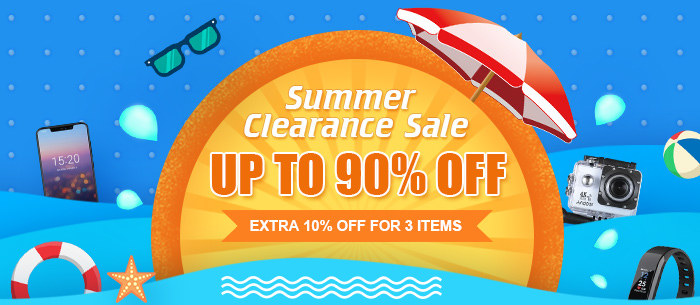 2018 Summer Clearance Sale, Up To 90% Off, Extra 10% Off for 3 Items | Tomtop