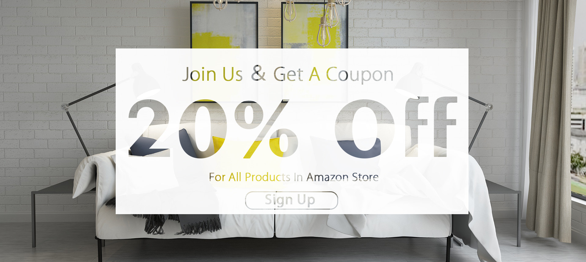 20% off banner