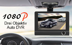 1080P Three Lens Car DVR