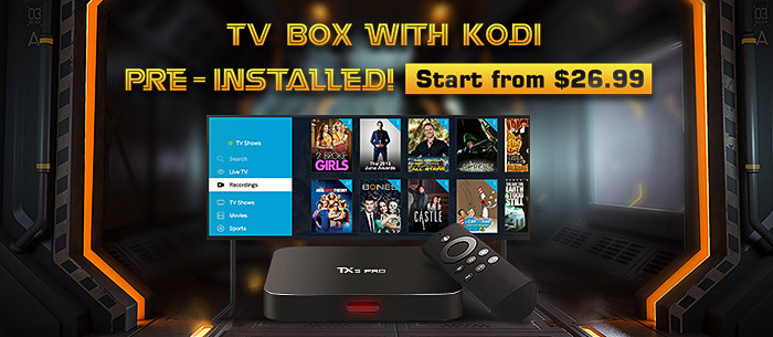 KODI TV BOX Annual Special Offer, Give You The Biggest Discount -Tomtop.com
