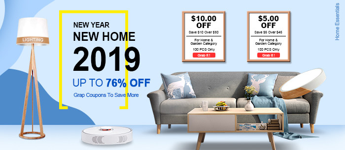 New Year New Home, Home Essentials Activity, Save Up To 76% Off-Tomtop.com