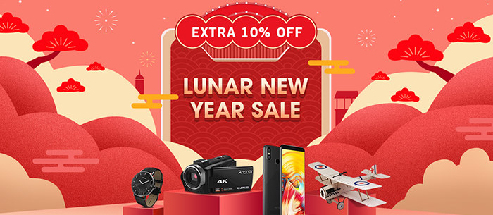 2019 Lunar New Year Sale, Extra 10% off - Tomtop.com