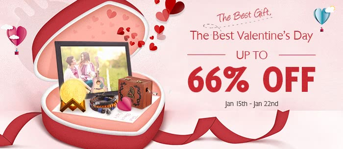 Low to $2.99 can get romantic or creative gift for the best valentine's day