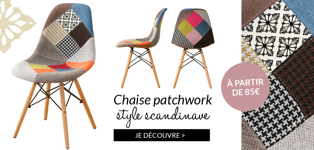 Chaise patchwork style scandinave