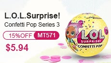 1Pcs L.O.L. Surprise! Confetti Pop-Series 3-Wave 1 Unwrapping Toy 9Cm