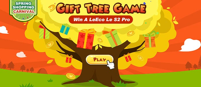 Win a Phone on Tomtop Gift Tree Game,more suprise waiting for you