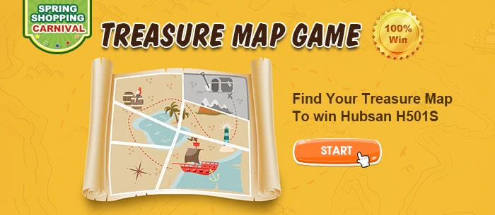 Treasure Map on Tomtop  Find Your Treasure Map To win Cool Gifts