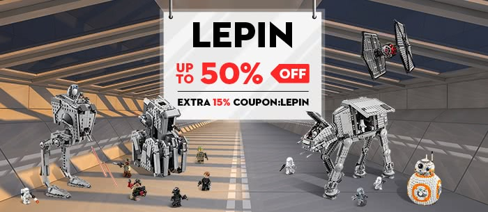 Lepin Models and Building Toys Clearance Sale, Up to 50% Off and Extra 15% Off