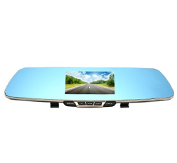 1080P HD Blue Rearview Mirror Car Video Recorder