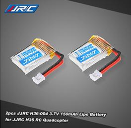 2pcs Original JJRC H36-004 3.7V 150mAh 30C Lipo Battery for JJRC H36