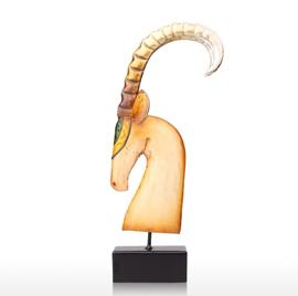 African Goat Sculpture Animal Sculp Home Decor